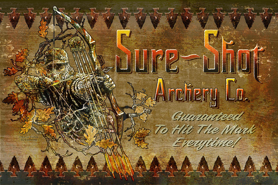 Kevin Torlein Painting - Sure Shot Archery by JQ Licensing