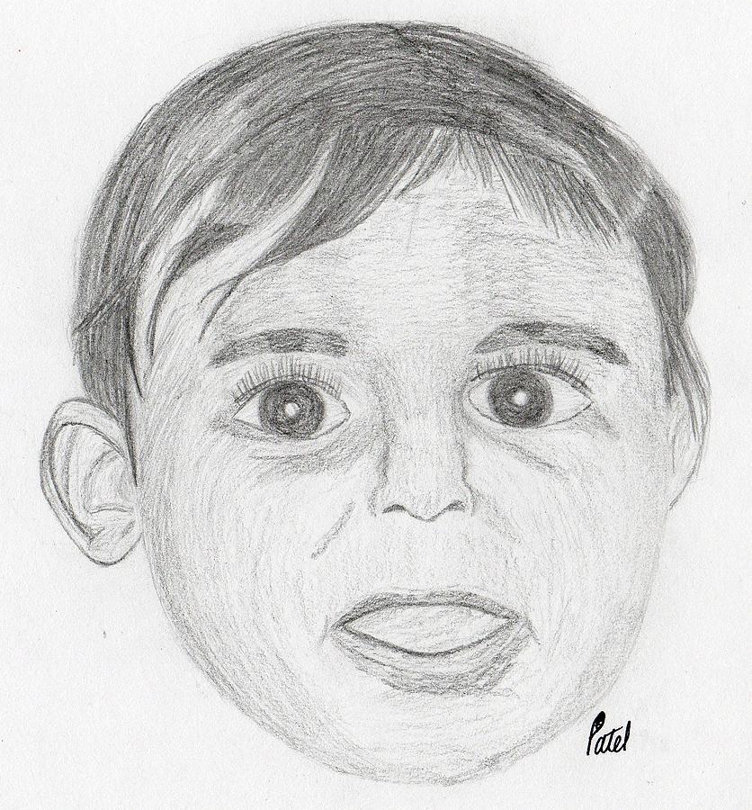 Portrait Drawing - Sureena by Bav Patel