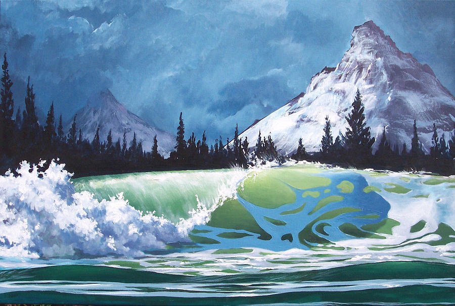 Wave Painting - Surf and Snow by Philip Fleischer