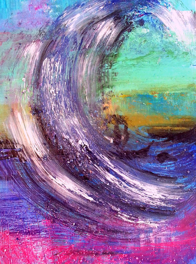 Abstract Pastel - Surf Is Up by Nikki Dalton
