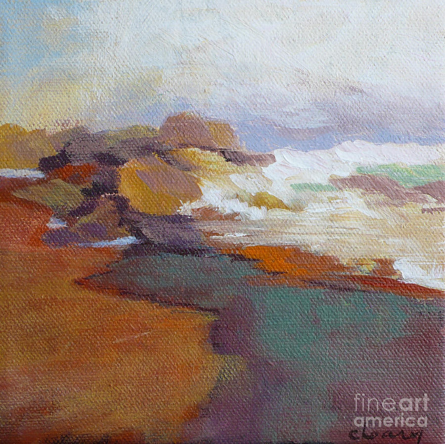 Contemporary Seascape Painting - Surf by Melody Cleary