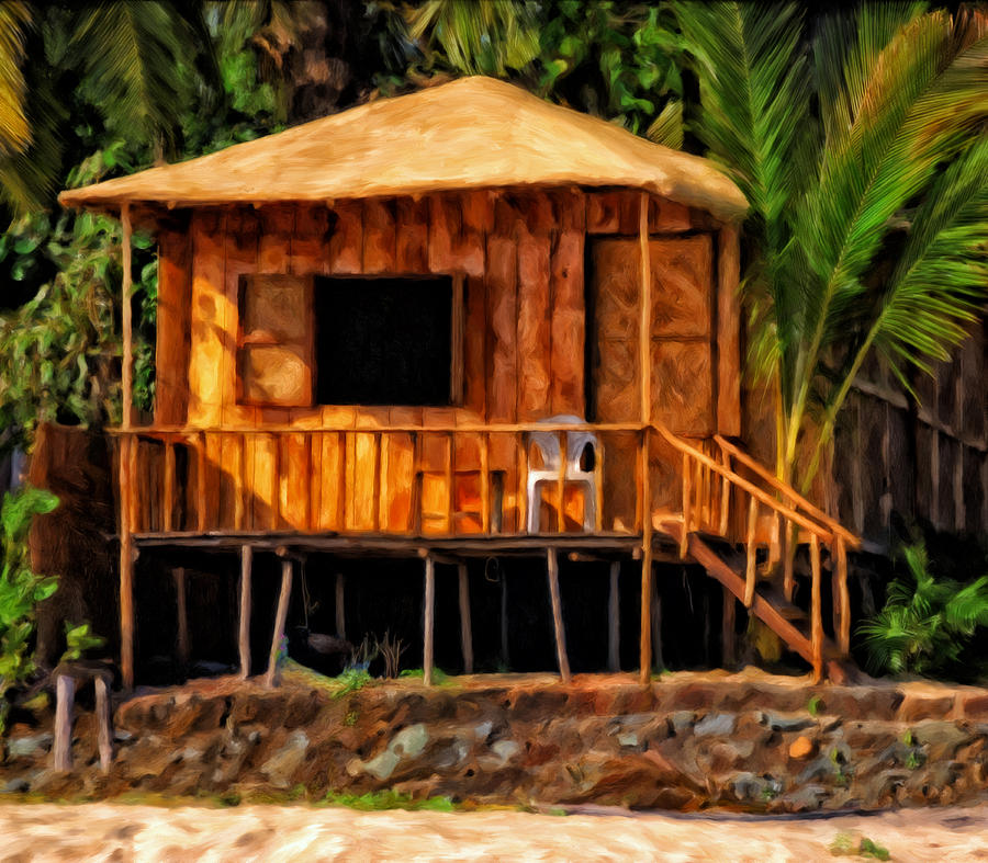 Surf Shack Painting By Michael Pickett