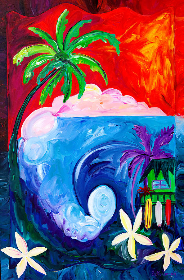Surf Painting - Surf Spot by Beth Cooper