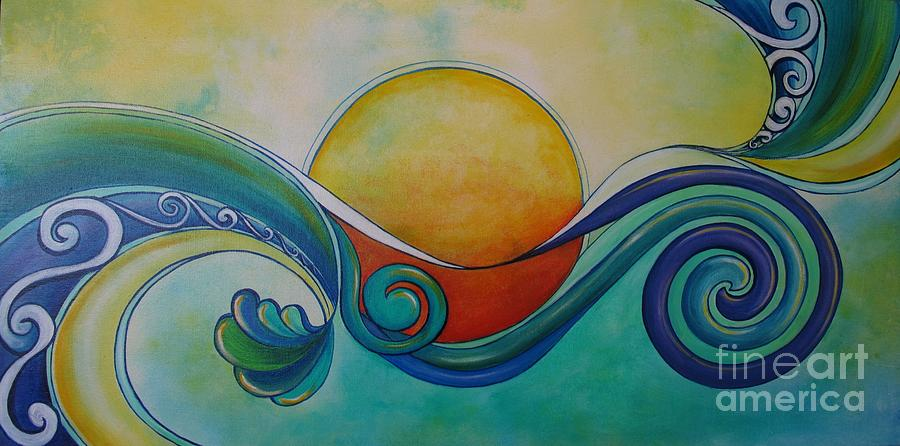 Painting Painting - Surf Sun Spirit by Reina Cottier