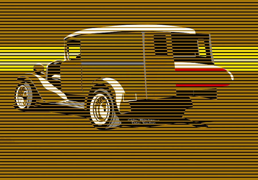 Surf Painting - Surf Truck Golden Sand by MOTORVATE STUDIO Colin Tresadern