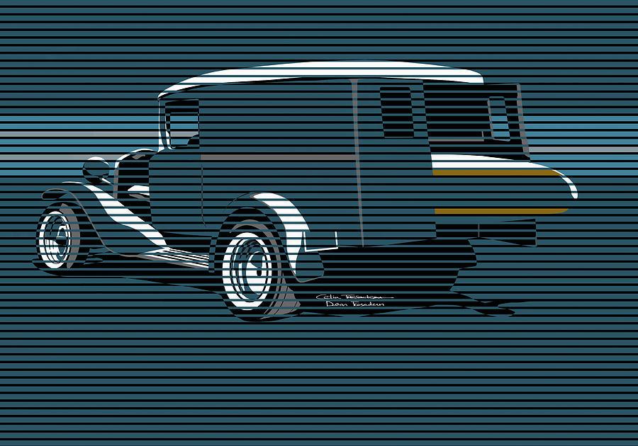 Surf Painting - Surf Truck Ocean Blue by MOTORVATE STUDIO Colin Tresadern
