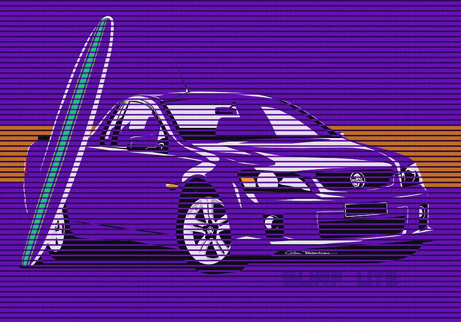 Holden Painting - Surf Ute Purple Haze by MOTORVATE STUDIO Colin Tresadern