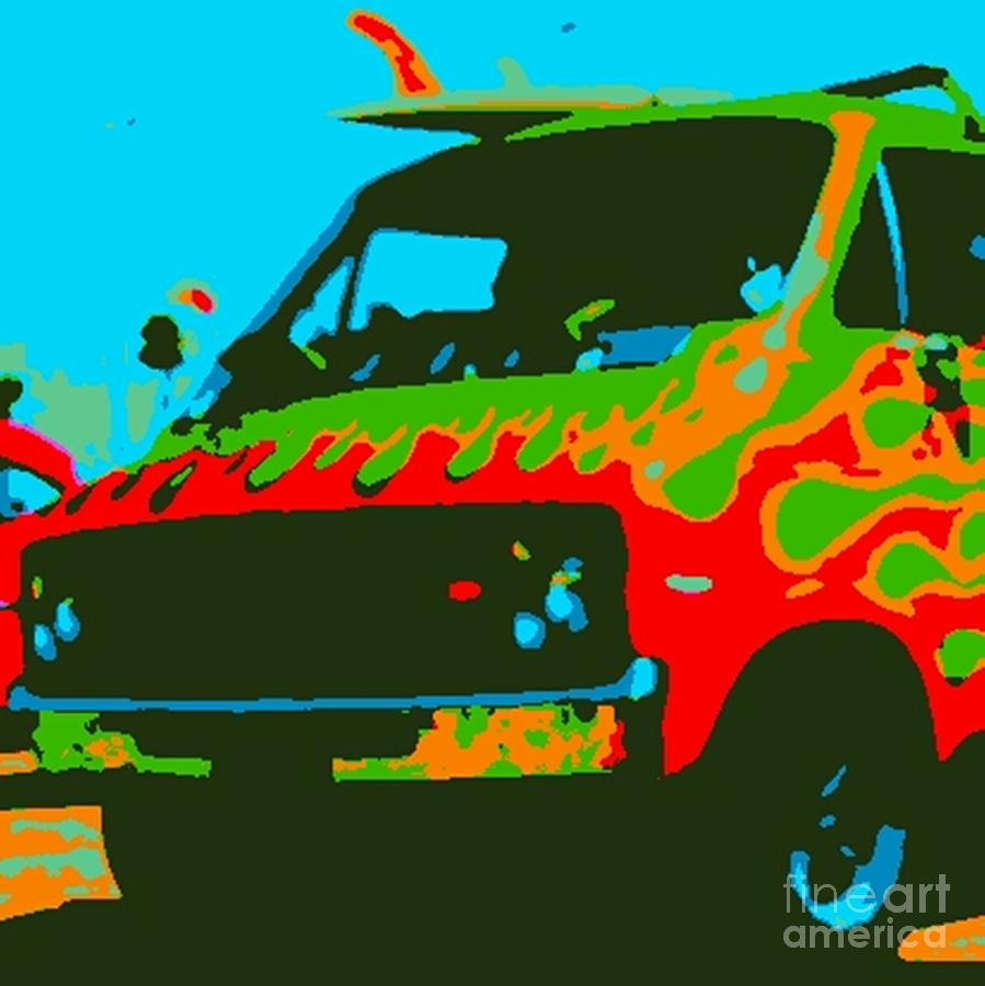 Art By James Eye Photograph - Surf Wagon by James Eye