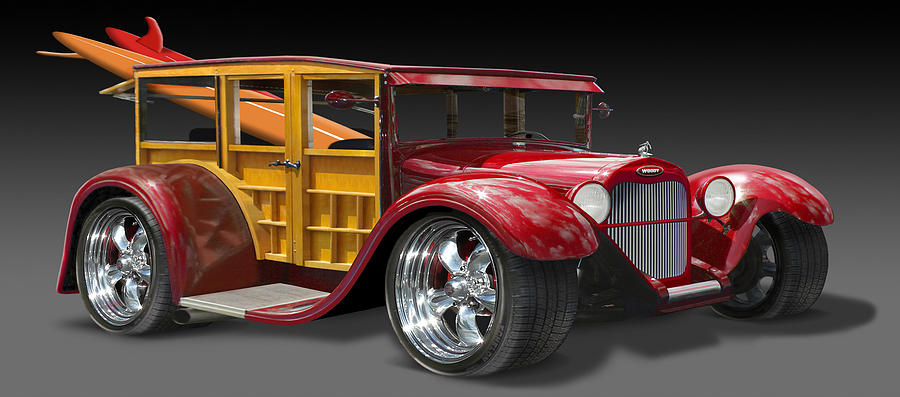 Transportation Photograph - Surf Woody by Mike McGlothlen