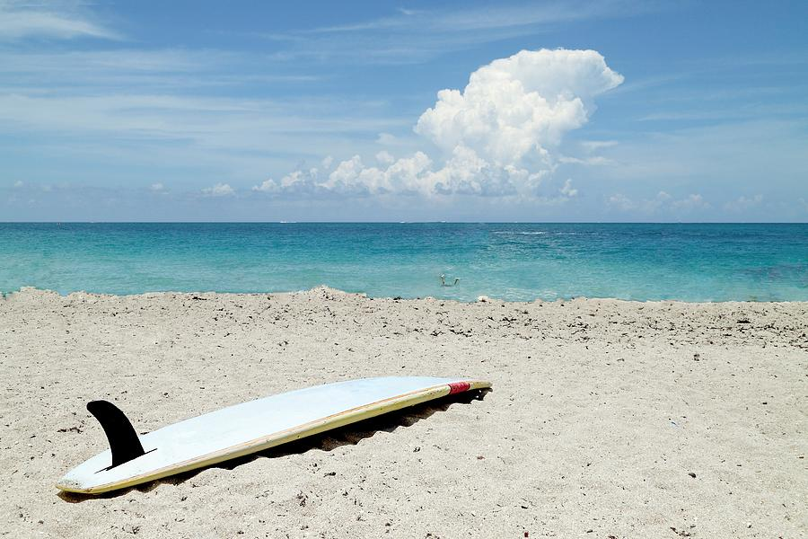 Surfboard On Beach Photograph by Rudy Umans