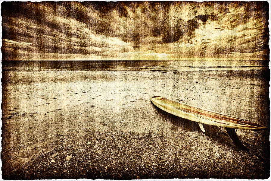 Surfboard Photograph - Surfboard On The Beach 2 by Skip Nall