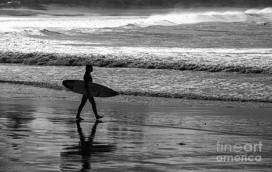 Surfer Photograph - Surfer at Palm Beach by Sheila Smart Fine Art Photography