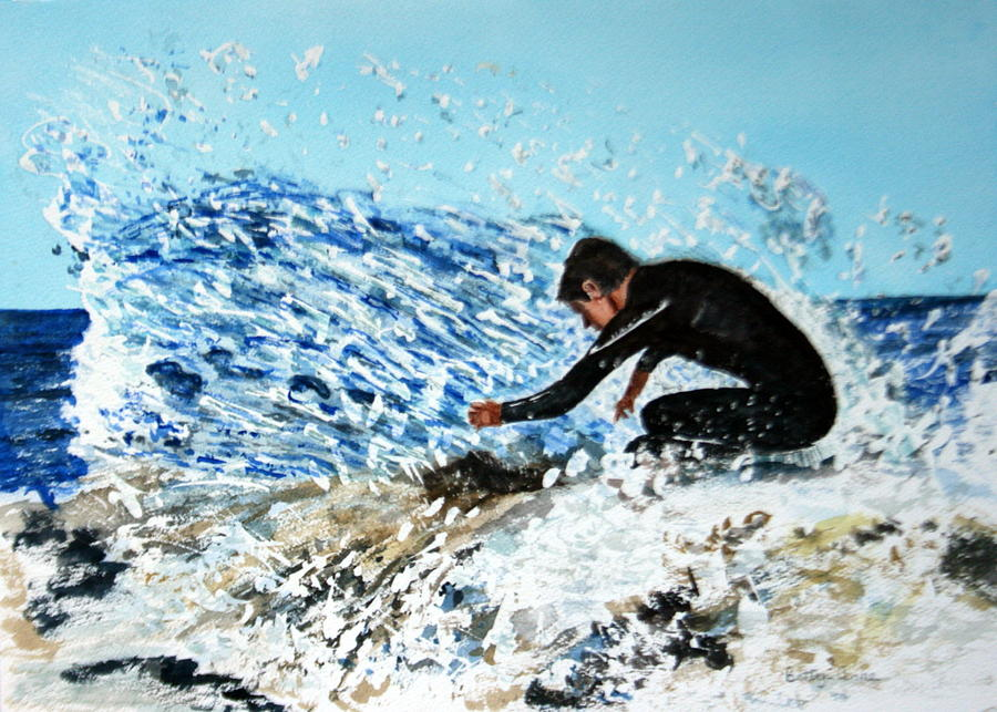 Surfer Painting - Surfer by Betty-Anne McDonald
