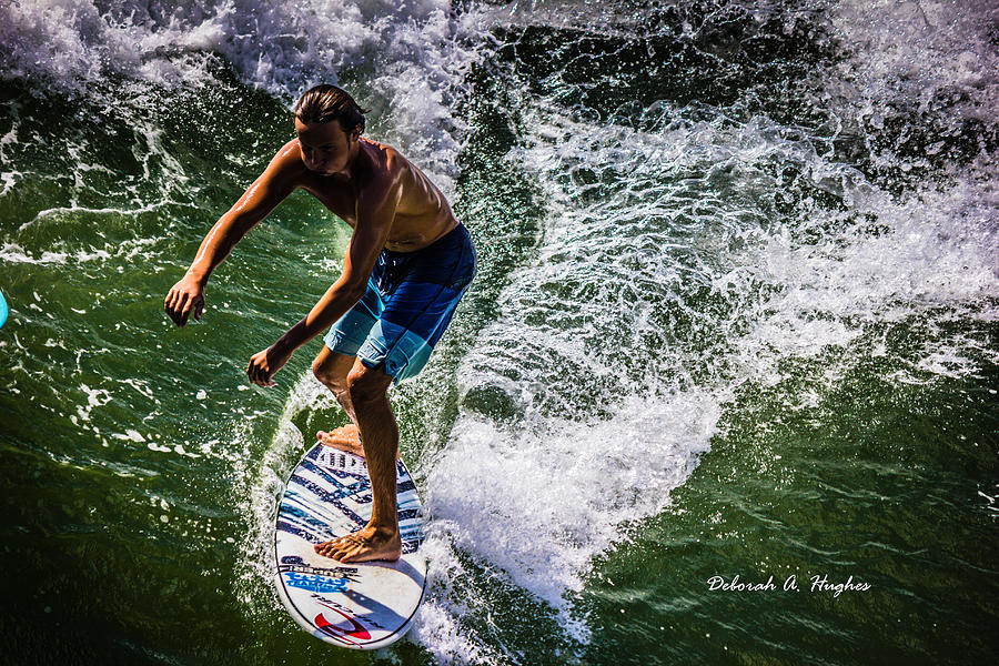 Surfer Photograph - Surfer Dude 12 by Deborah Hughes