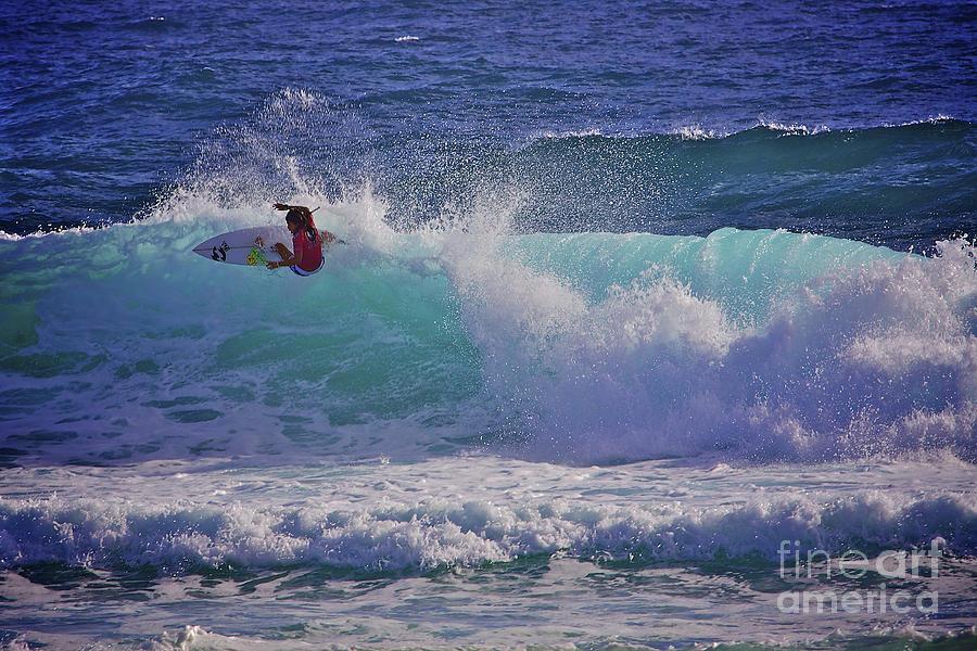 Girl Surfer Photograph - Surfer Girl 1 by Heng Tan