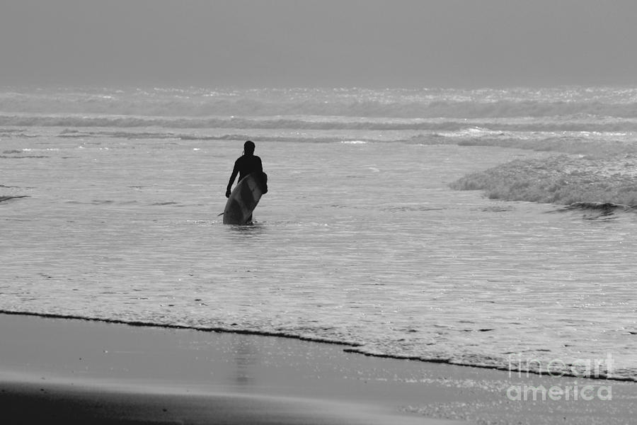 Surfer Photograph - Surfer In The Mist by Terri Waters