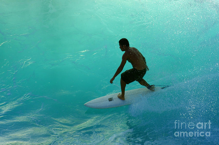 Surf Photograph - Surfer In The Zone by Bob Christopher