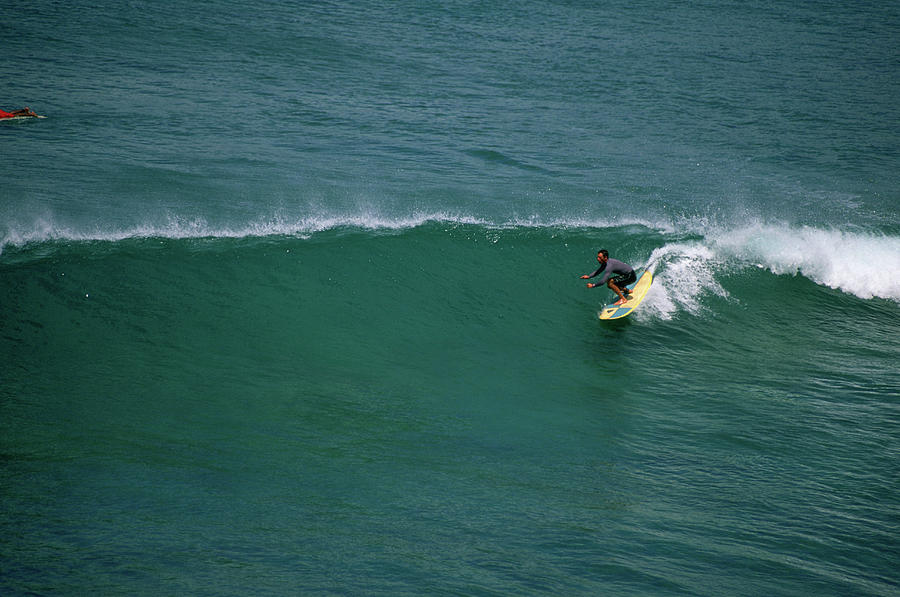 Action Photograph - Surfer by Randy Barnes