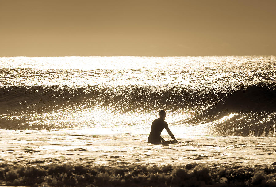 Surfing Photograph - Surfer Silhouette by Serge Skiba