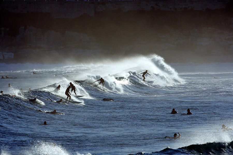 Surfers At Bondi Beach Photograph by Oliver Strewe