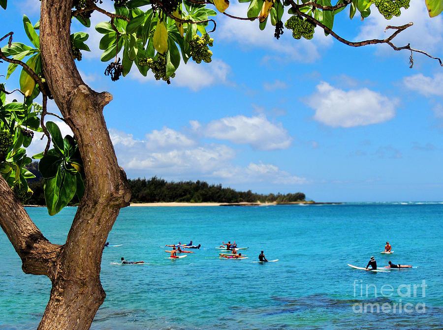 Beach Photograph - Surfers In Paradise by Kristine Merc