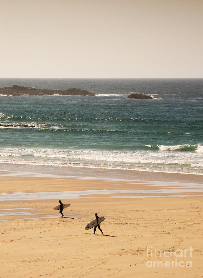 Surf Photograph - Surfers On Beach 01 by Pixel Chimp