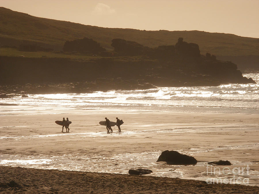 Surf Photograph - Surfers On Beach 02 by Pixel Chimp