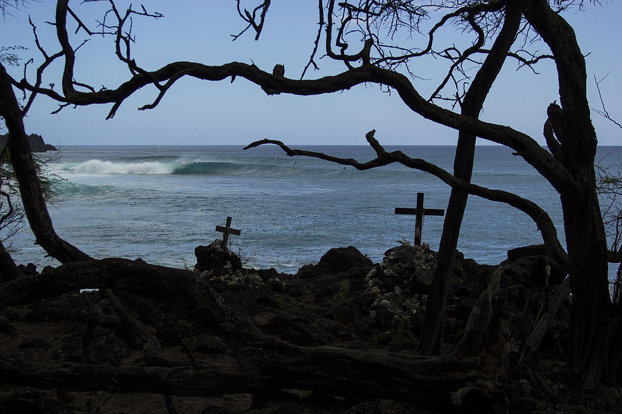 Wave Photograph - Surfers Resting Grounds by Brad Scott