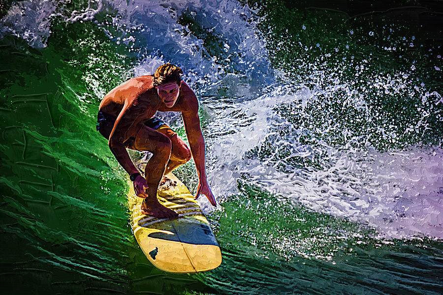 Surfer Photograph - Surfing by Deborah Hughes