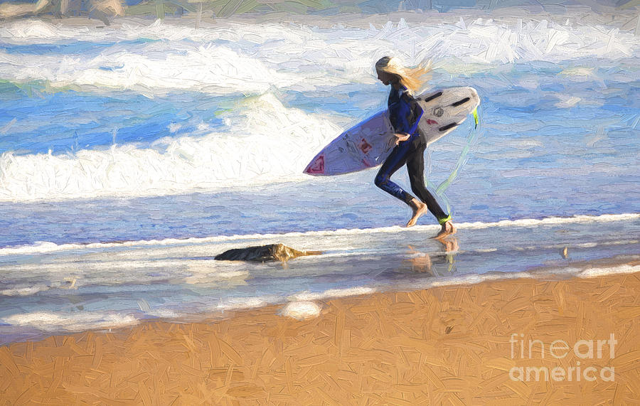 Surfer Photograph - Surfing girl by Sheila Smart Fine Art Photography