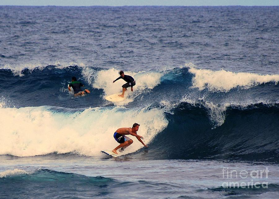 Surfing In Hawaii Photograph