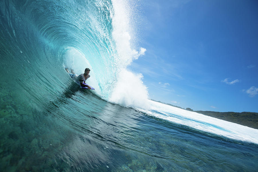 Surfing In The Pacific Ocean Photograph by Mark Tipple