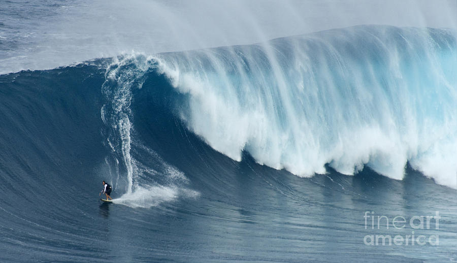 Surf Photograph - Surfing Jaws 5 by Bob Christopher