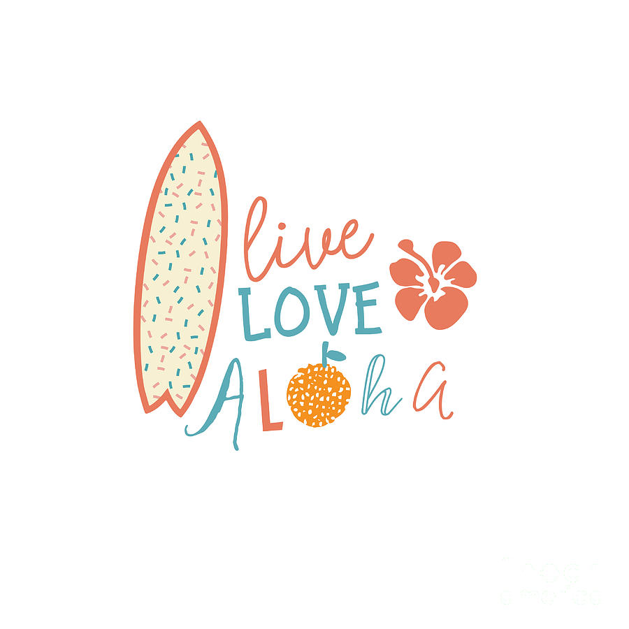 Love Digital Art - Surfing Summer Emblem With Text Quote by Tasiania