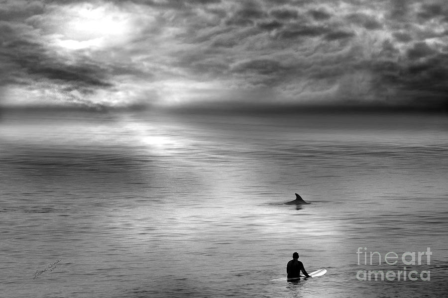 Dolphins Photograph - Surfing With The Dolphin by Artist and Photographer Laura Wrede