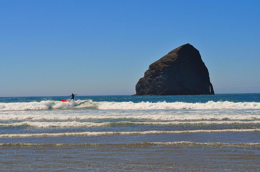Oregon Coast Surfing Photograph - Surfsup by Thomas J Rhodes