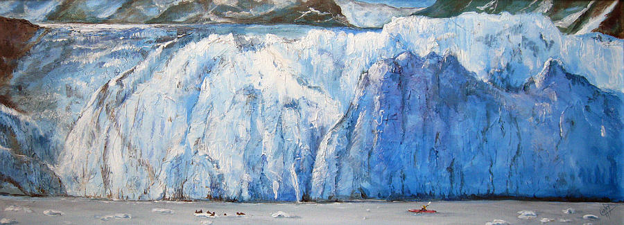Glacier Painting - Surprise Glacier by Karen Copley