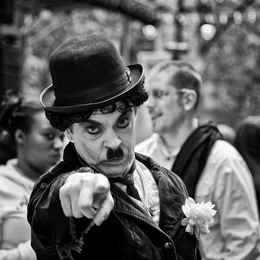 Charlie Chaplin Photograph - Surprise by Louis Dallara