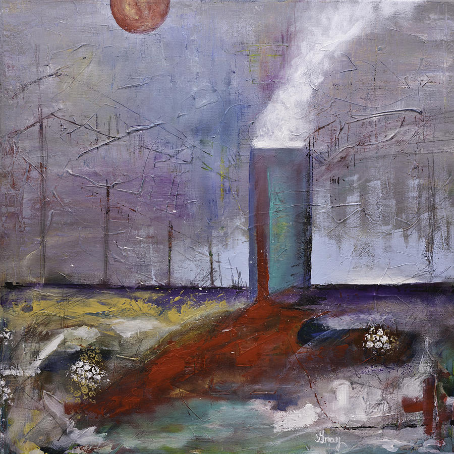 Surreal Abstract Landscape Painting Original On Canvas Painting