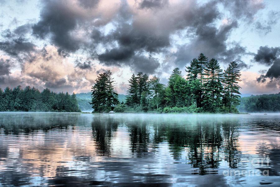 Surreal Adirondack Lake by Stan Reckard