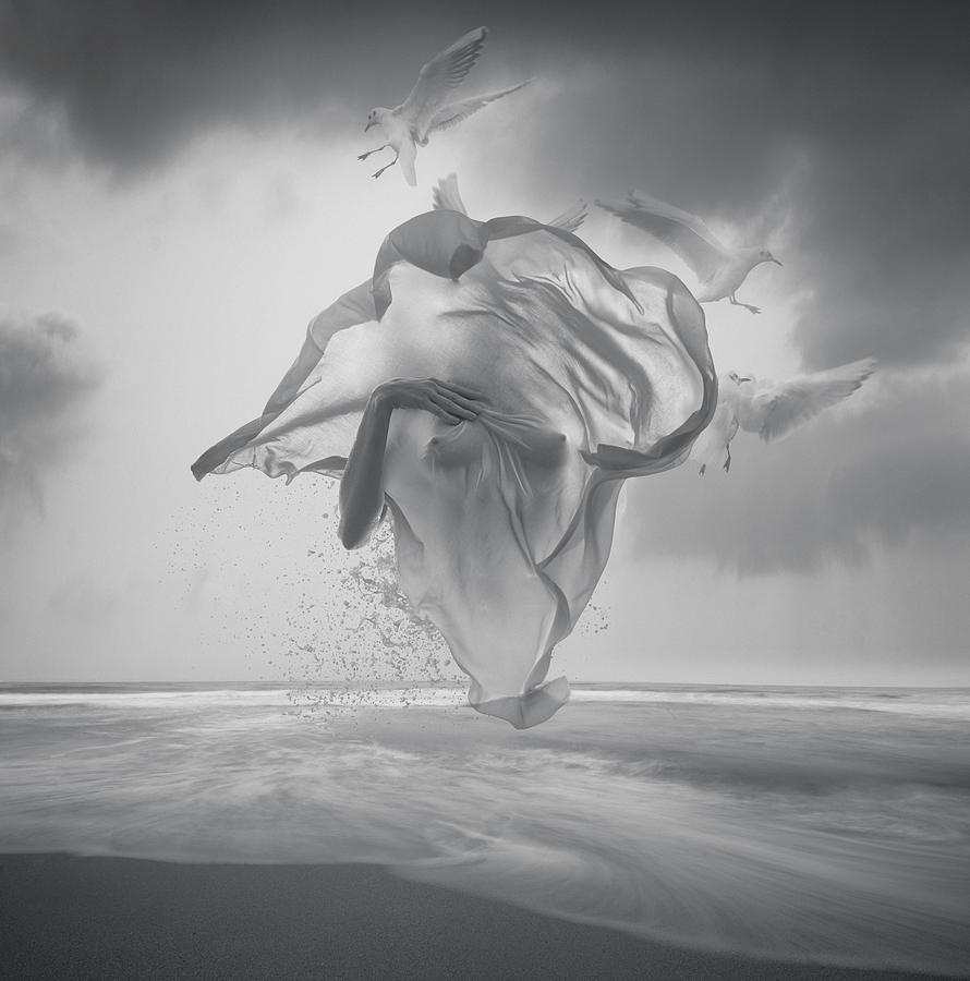 Surreal black and white picture by vizerskaya