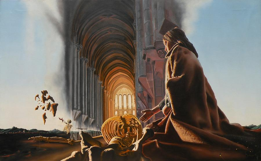 Surreal Painting - Surreal Cathedral by Dave Martsolf