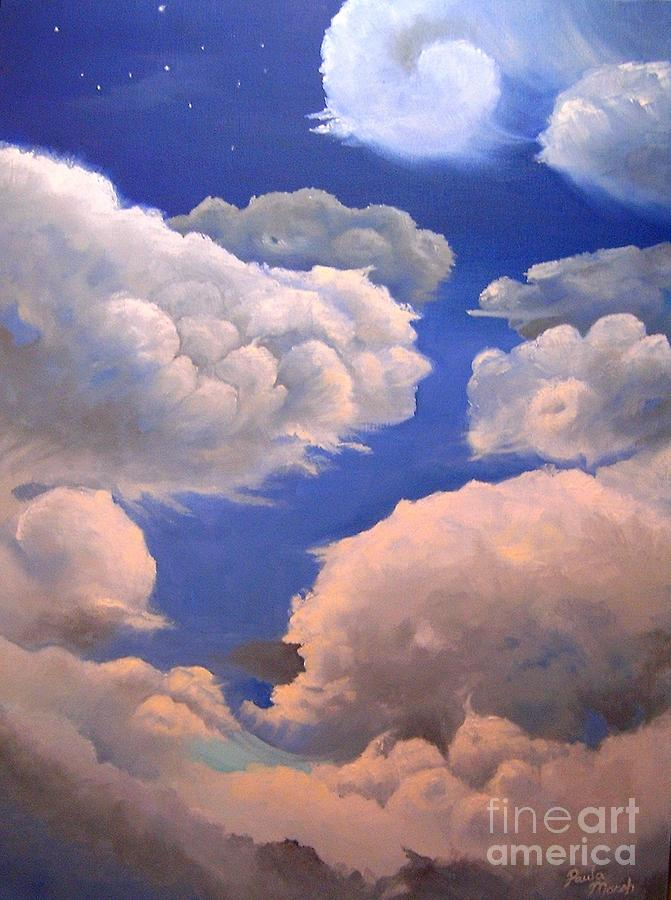 Clouds Painting - Surreal Cloud One by Paula Marsh
