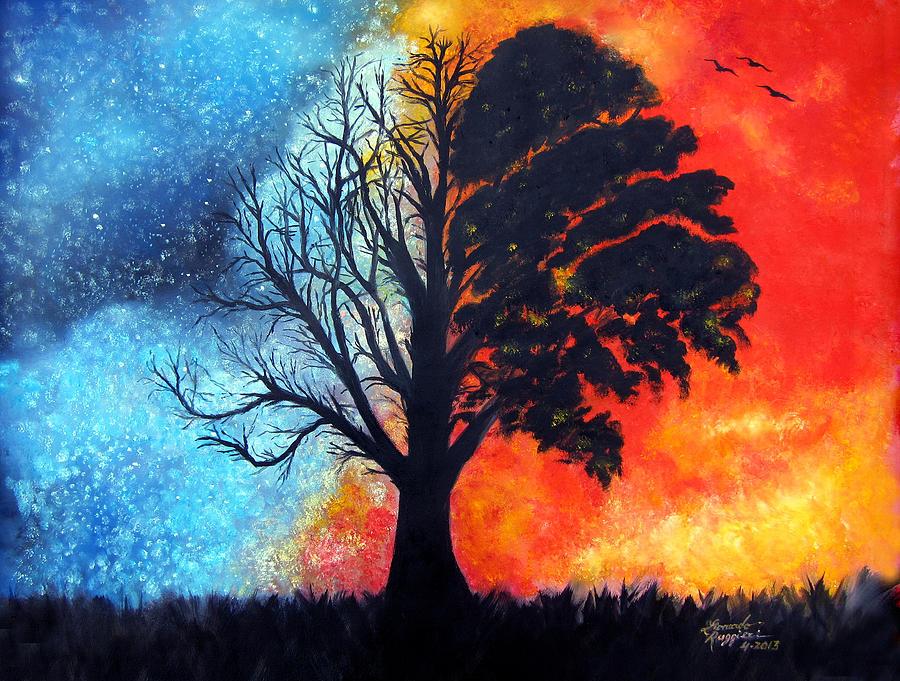 Acrylic Galaxy Painting