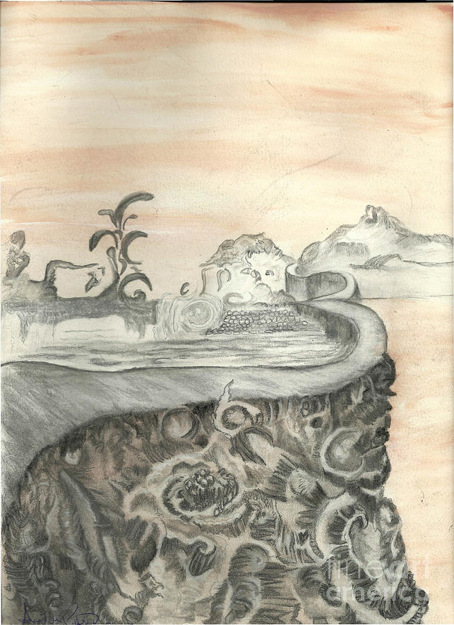 Surreal Mixed Media - Surreal View by Angela Pelfrey