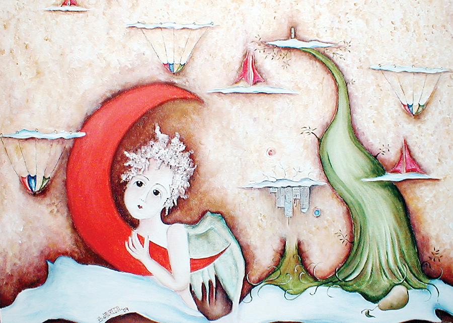 Angel Painting - Surrealismo Interior by Belen Jauregui
