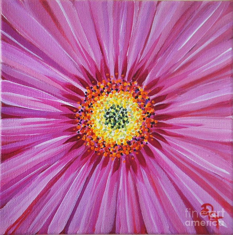 Pink Painting - Surrender by Deborah Glasgow