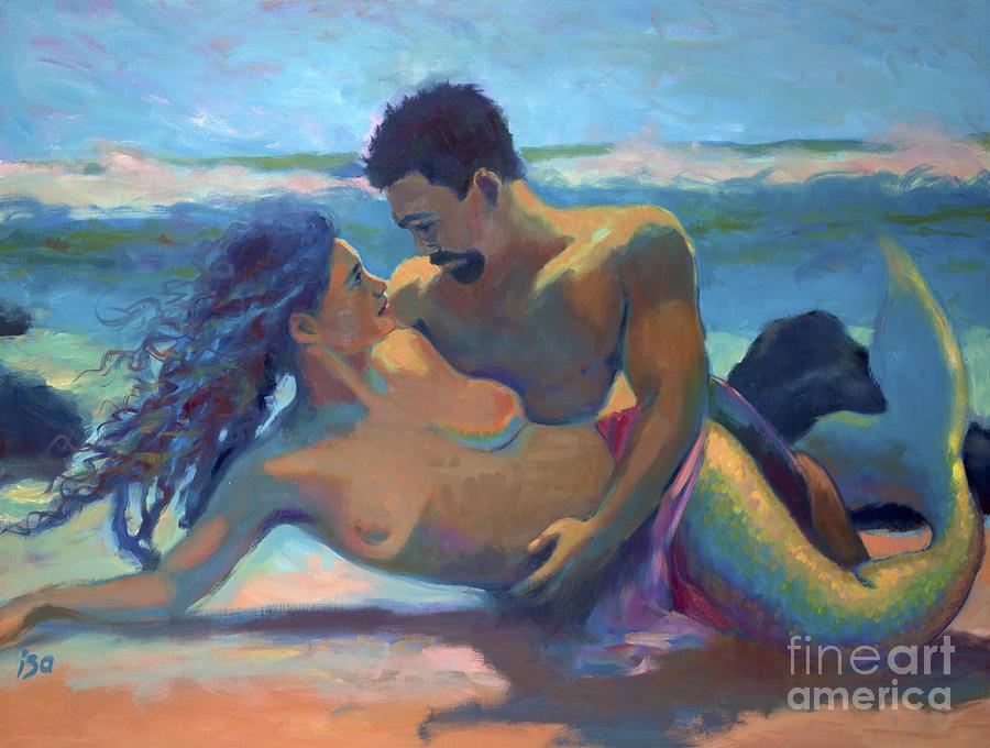 Mermaid Painting - Surrender by Isa Maria