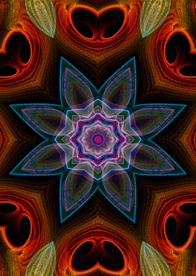 Flame Fractal Digital Art - Surround by Owlspook
