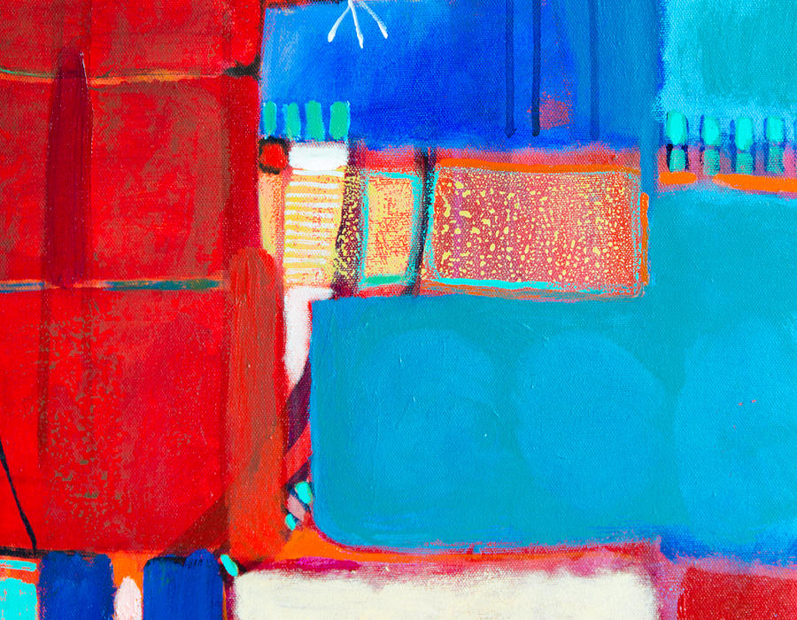 Abstract Painting - Surrounding Fields by Jennifer Croom